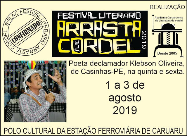 Cultura: Poeta Klebson Oliveira se apresentará no 6º Festival Arrasta Cordel em Caruaru