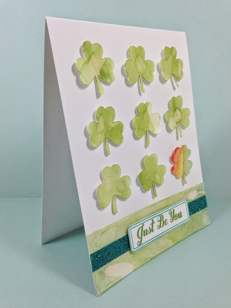 Cricut Just Be You card sideview
