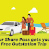Free OLA Share Pass and free Ola Outstation trip