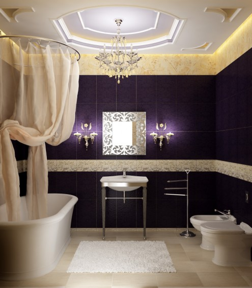 Elegant Bathrooms: Home Design: Hotel Bathroom Design Ideas With Elegant