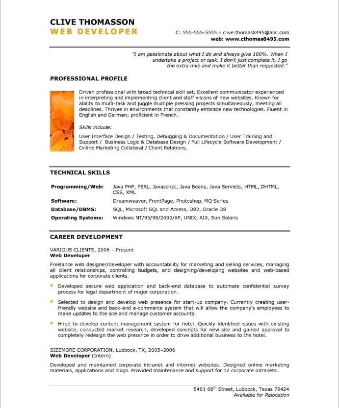 sample resume punctuation