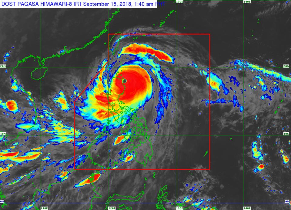 'Bagyong Ompong' makes landfall in Baggao, Cagayan