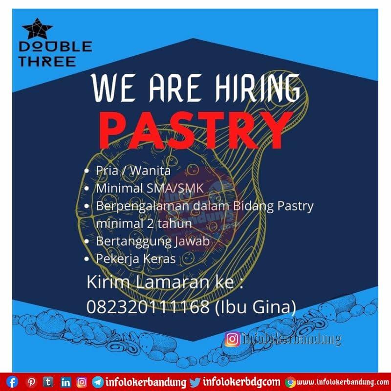 Lowongan Kerja Pastry Double Three Bandung Mei 2021
