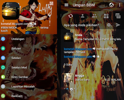 BBM Mod Luffy One Piece APK Free Download