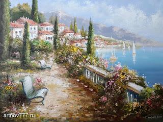Картина Набережная у средиземного моря