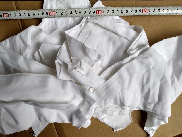 Giẻ lau trắng cotton A5 | Vải lau trắng nhỡ, kích thước thực tế