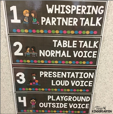 Use a voice level chart to teach your students about appropriate classroom voice levels
