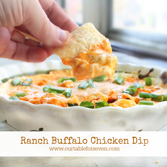 Ranch Buffalo Chicken Dip #SundaySupper