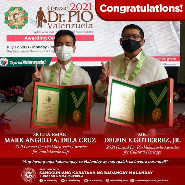 gawad dr. pio valenzuela awardee 2021