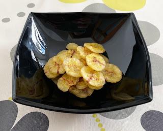 Chips de plátano en microondas