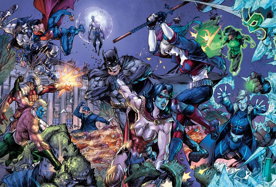 dc rebirth justice league vs suicide squad