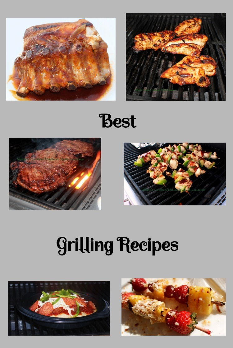 This is the best grilling roundup of recipes to include ribs, chicken, steaks all on the grill with special sauces and marinades for all your grilling recipe needs
