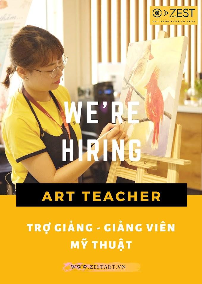 [Việc làm] Mỹ thuật ZEST ART tuyển dụng 2021 - đợt tuyển dụng lớn nhất năm
