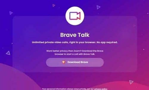 Brave adds Brave Talk for video conferencing