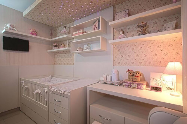Female baby room decoration