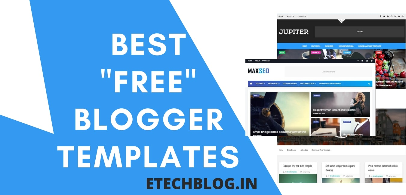 30+ Best FREE SEO Friendly Blogger Templates {IN 2020}.