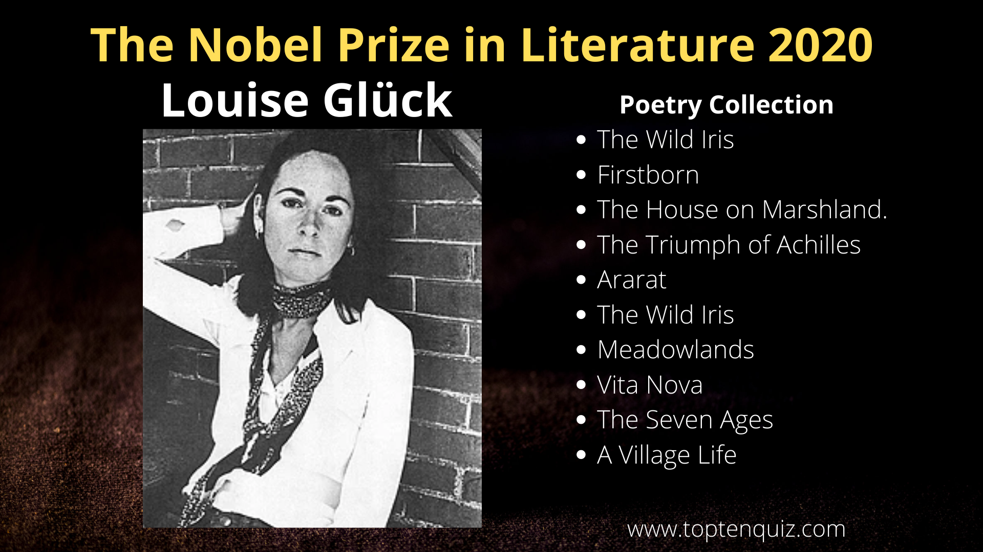 The Nobel Prize in Literature 2020 - Louise Glück -poetry works