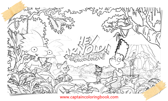Hey arnold the jungle coloring book - Coloring Page
