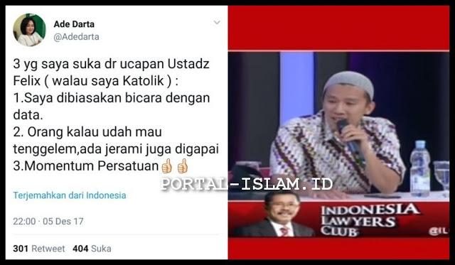 Penganut Katolik Ini Apresiasi Penampilan Ustadz Felix Siauw di ILC tvOne