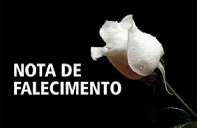 Faleceu a senhora Benedita Vieira Diniz!