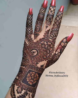 Mehndi Design Arabic Back Hand