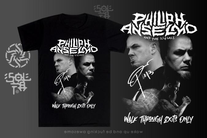Philip Anselmo and Illegal - Contoh Desain Kaos Musik Band Metal