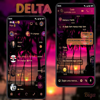 Dark Beach Theme For YOWhatsApp & Delta WhatsApp By Marcos