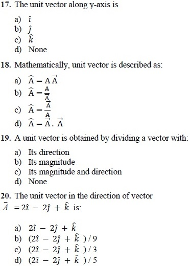mcqs of physics 1st year solved