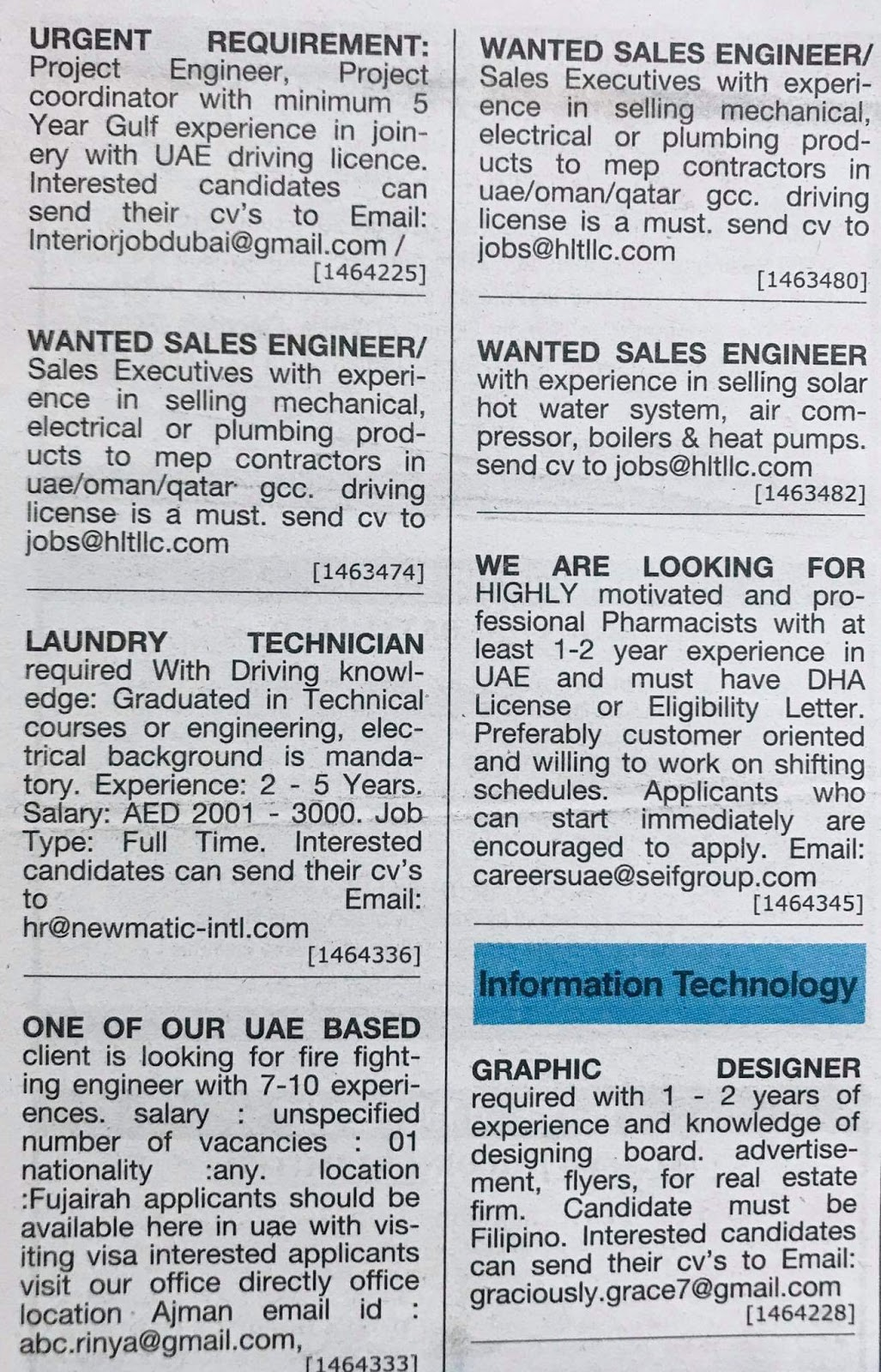 Hiring Positions in UAE Local Hiring Jobs Khaleej Times-UAE-1912515