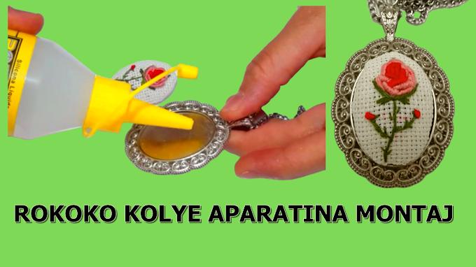 Rokoko kolye aparata nasıl monte edilir? Rokoko dikimi ve yapıştırma- VİDEO