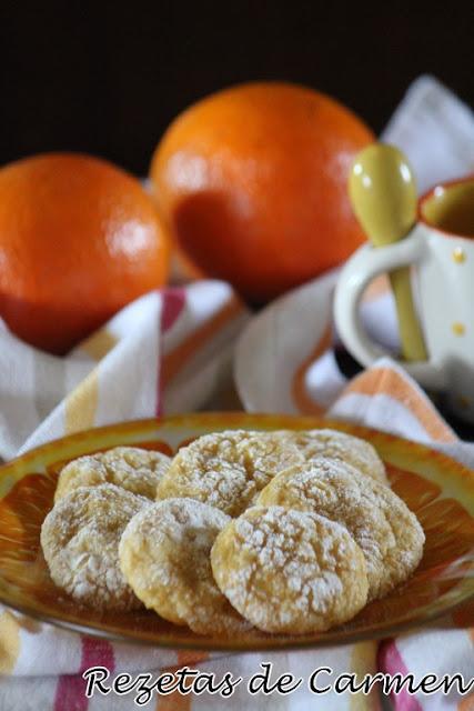 Galletas craqueladas de naranja