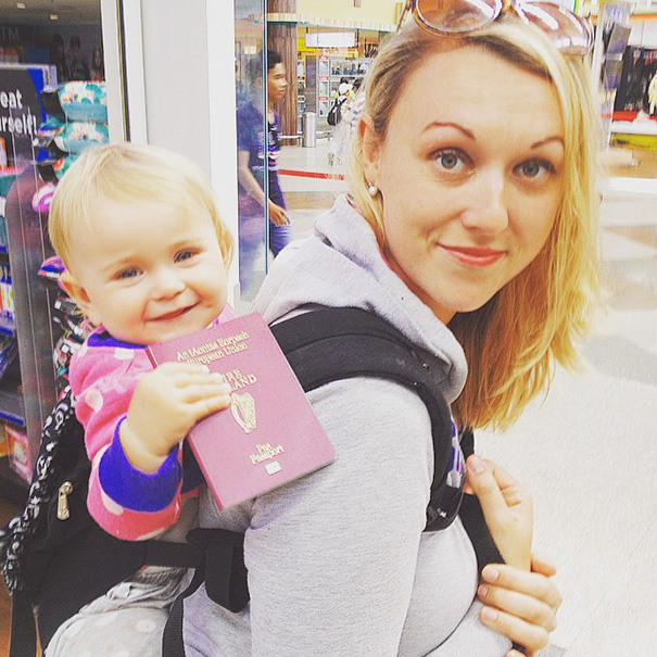 """""""Both Shaun and I were keen backpackers before I fell pregnant,"""" said Karen, a 31-year-old nurse - 1-Year-Old Has Been Travelling Around The World Since She Was Born"""