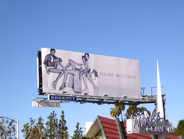Stuart Weitzman Spring 2016 shoes billboard