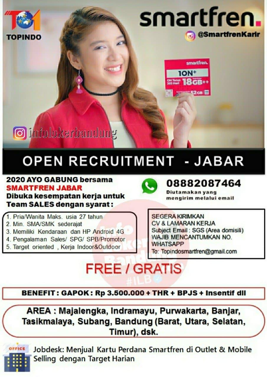 Lowongan Kerja Smartfren Jabar April 2021
