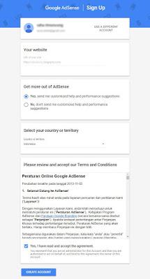 Cara Mendaftar Adsense Menggunakan Blogspot