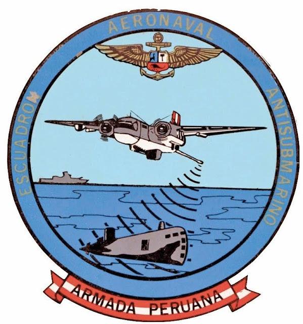 El emblema del Escuadrón Aeronaval No. 12, la casa de los Tracker peruanos.