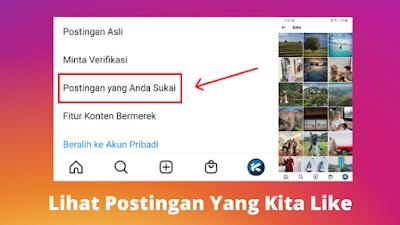 Cara melihat postingan yang kita like di Instagram