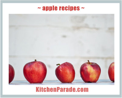 Apple Recipes ♥ KitchenParade.com.