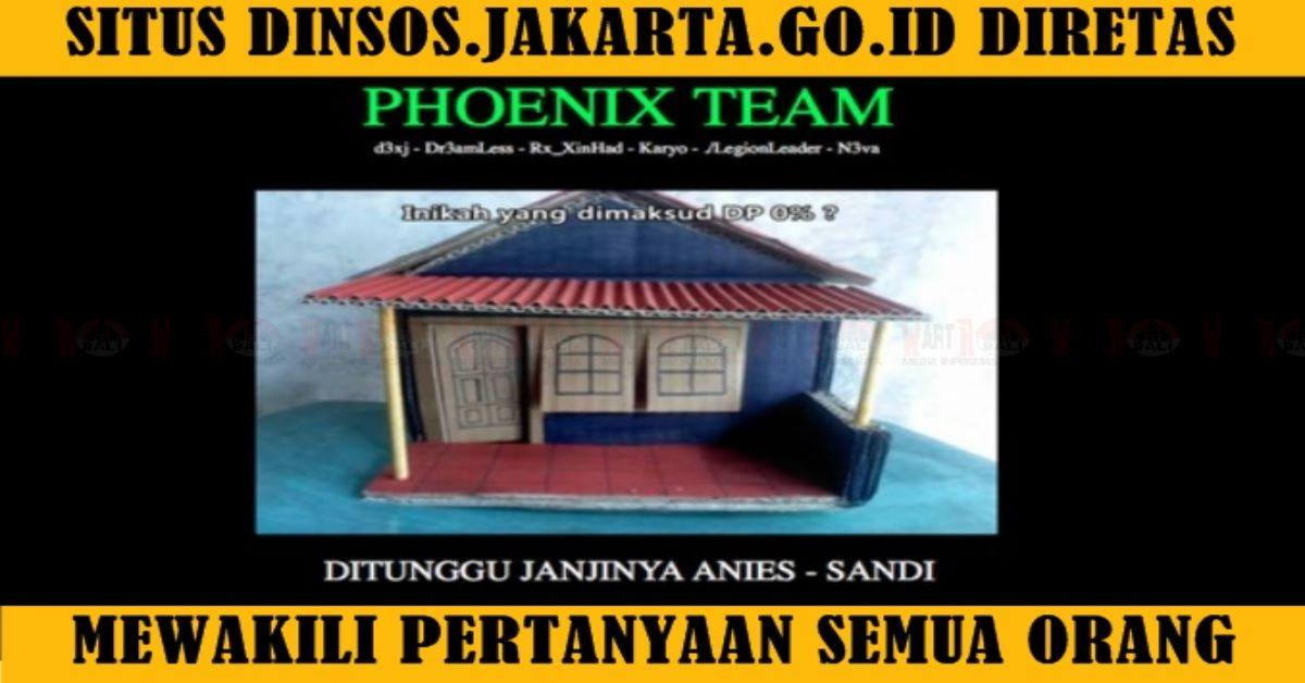 Situs Dinsos Jakarta Diretas, Janji Manies Rumah DP-0 ...