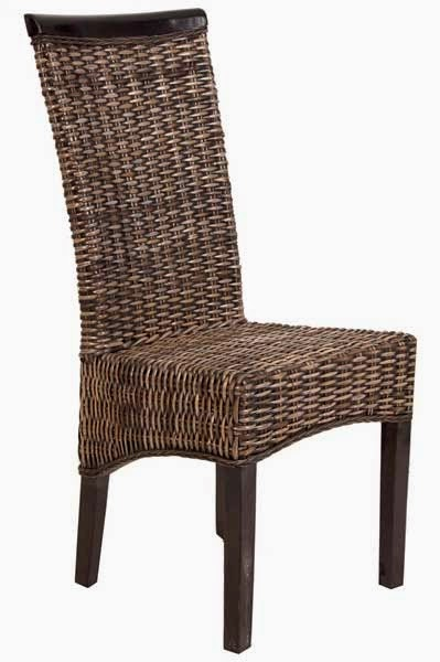 silla mimbre salon comedor