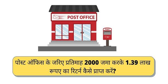 पोस्ट ऑफिस के जरिए प्रतिमाह 2000 जमा करके 1.39 लाख रूपए का रिटर्न कैसे प्राप्त करें?