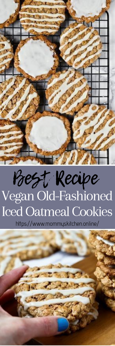 Vegan Old-Fashioned Iced Oatmeal Cookies #healthyfood #dietketo
