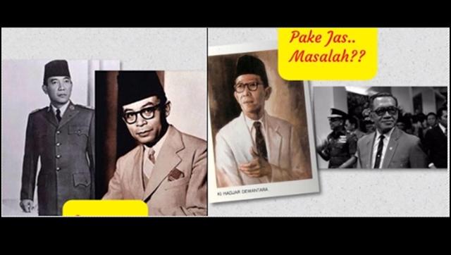 Jokowi Sindir 'Jas Hitam', Dahnil Unggah Foto Soekarno-Hatta Berjas