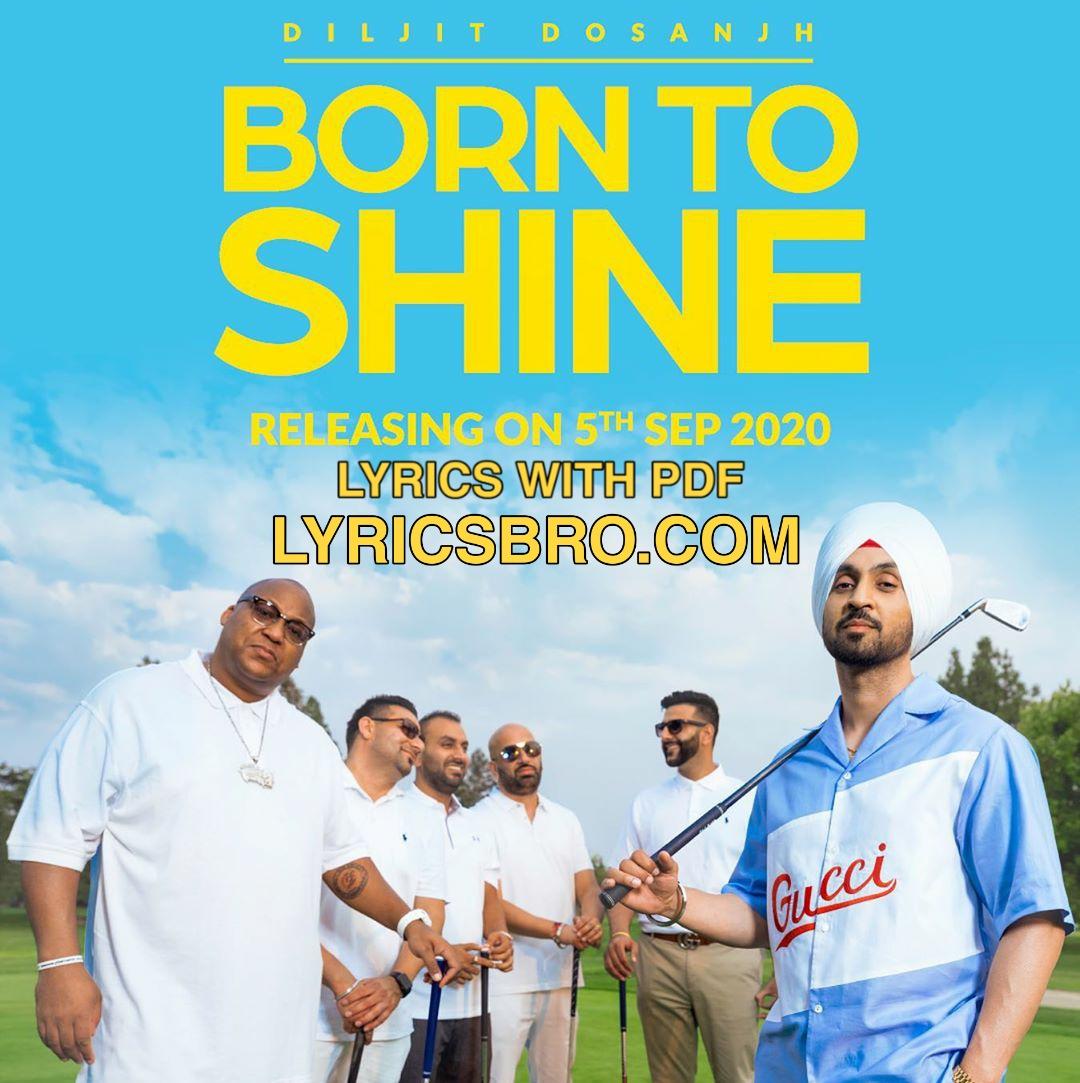 Born to shine diljit lyrics in hindi