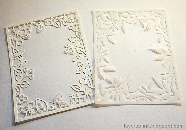 Layers of ink - Vintage Valentine's Card Tutorial by Anna-Karin Evaldsson. Die cut frames.