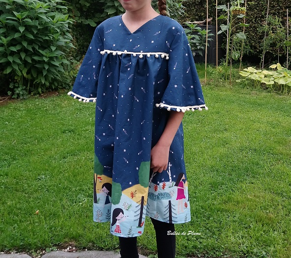 Bulles de Plume - couture facile robe enfant