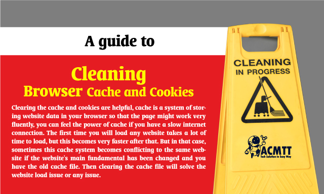 How to Clear the Cache and Cookies in Browser