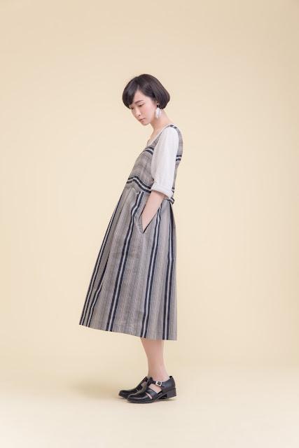 波特小姐吊帶背心壓折純棉洋裝
