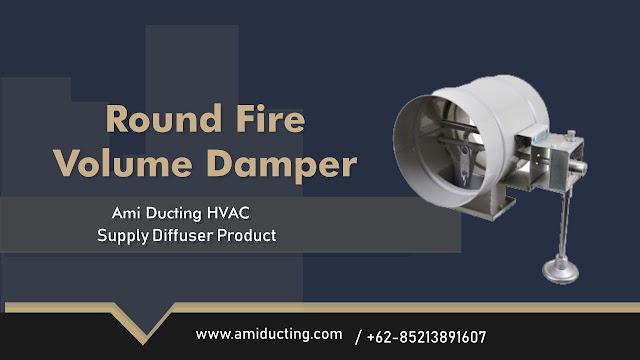 Round Fire Volume Damper Aksesoris Ducting