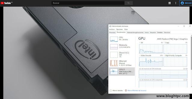 REPRODUCCIÓN DE VÍDEO UHD AMD ATHLON 200GE